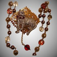 Art by Josty Collage Necklace  'Kitty Kitty II'