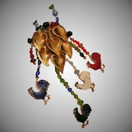 Art by Josty Collage Necklace 'Free Range'