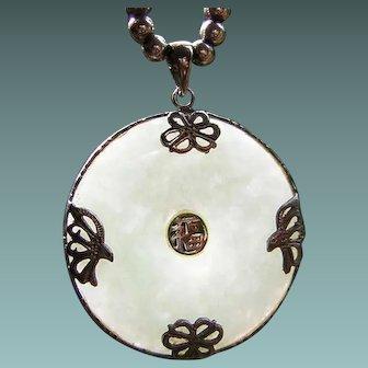 Vintage Translucent Jade Pendant