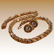 Vintage Monet Necklace with Clear Stones