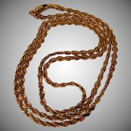 Vintage 8.7 grams 20 Inch Solid 14k Gold Chain Necklace
