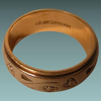 Vintage Two-tone 6.3 grams 14k Gold Wedding Band