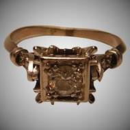 Art Deco Period Diamond Ring 14k White Gold