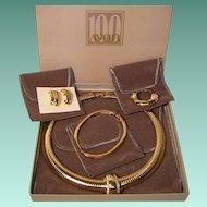 Vintage Avon Centennial Jewelry Set 1886-1986 Celebration of 100 Years of Beauty