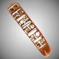 14k Gold and Diamond Ring Band 2.4 Grams