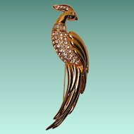 Vintage Monet Bird Brooch