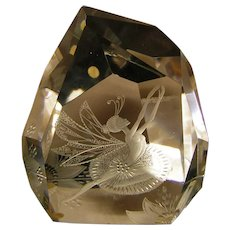 Sale! Hadeland of Norway Vintage Crystal Sculpture by Gerd Slang 'Les Lyphides'