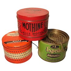 Vintage Moth Ball Cans