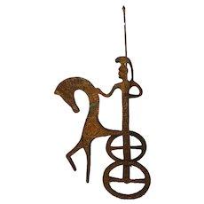 Mid-Century Modern Roman Chariot Figure