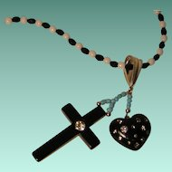 Collage Necklace 'Cross my Heart' Art by Josty