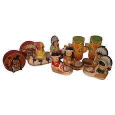 Hold for Jack. Vintage Salt and Pepper Shaker Collection Native American Themed (5 pr)