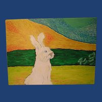 A Study in Van Gogh 'Upright Bunny' ART by Josty
