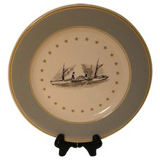 Syracuse China Plate with Boat Travel Theme