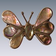 Vintage Shell Butterfly Pin