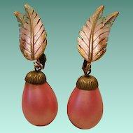 Park Lane Pink Tropical Earrings Vintage