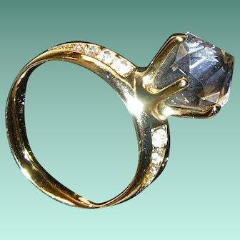 Figural Engagement Ring Brooch Vintage