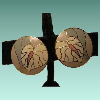 Laurel Burch Anthurium Earrings