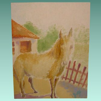 Impressionist Oil Painting 'Horse in the Sun' ART by Josty