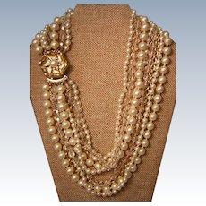 Nine Strand Torsade Necklace Vintage