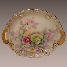 Vintage Decorative Serving Bowl with Roses