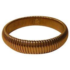Vintage Monet Gold-tone Bangle Bracelet