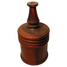 Antique Treen Bottle