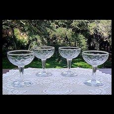 Vintage Diamond Pattern Champagne/Cocktail Glass