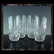 Royal Crystal Rock Highball or Beverage Glasses