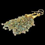 Aquamarine and Gold Vermeil Earrings