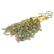 Aquamarine and Gold Vermeil Earrings