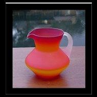Hand Blown Miniature Satin Glass Pitcher