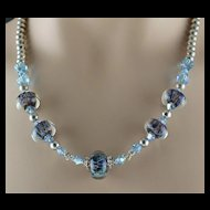 Ocean Mist Lampwork Beaded Necklace