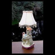 Adorable Pony Nursery Lamp ca 1940's-50's