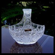 Nachtmann Bleikristall Cut Crystal 24% Lead Glass Basket W/Handle