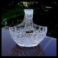 Nachtmann Bleikristall Cut Crystal 24% Lead Glass Basket W/Handle
