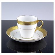 Gold Encrusted Demitasse Cup and Saucer ca 1920's-40's