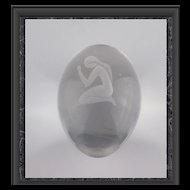 Hand Blown Nude Paperweight
