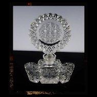 Dramatic Cut Crystal Perfume Bottle