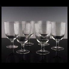 Cut Wheat Water/Large Wine Glasses