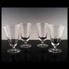 Crystal Tea or Frozen Cocktail Glasses