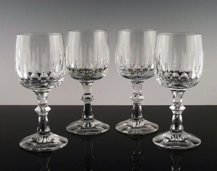 Cut Crystal Wine Glasses By Schott Zwiesel In Tango Pattern The