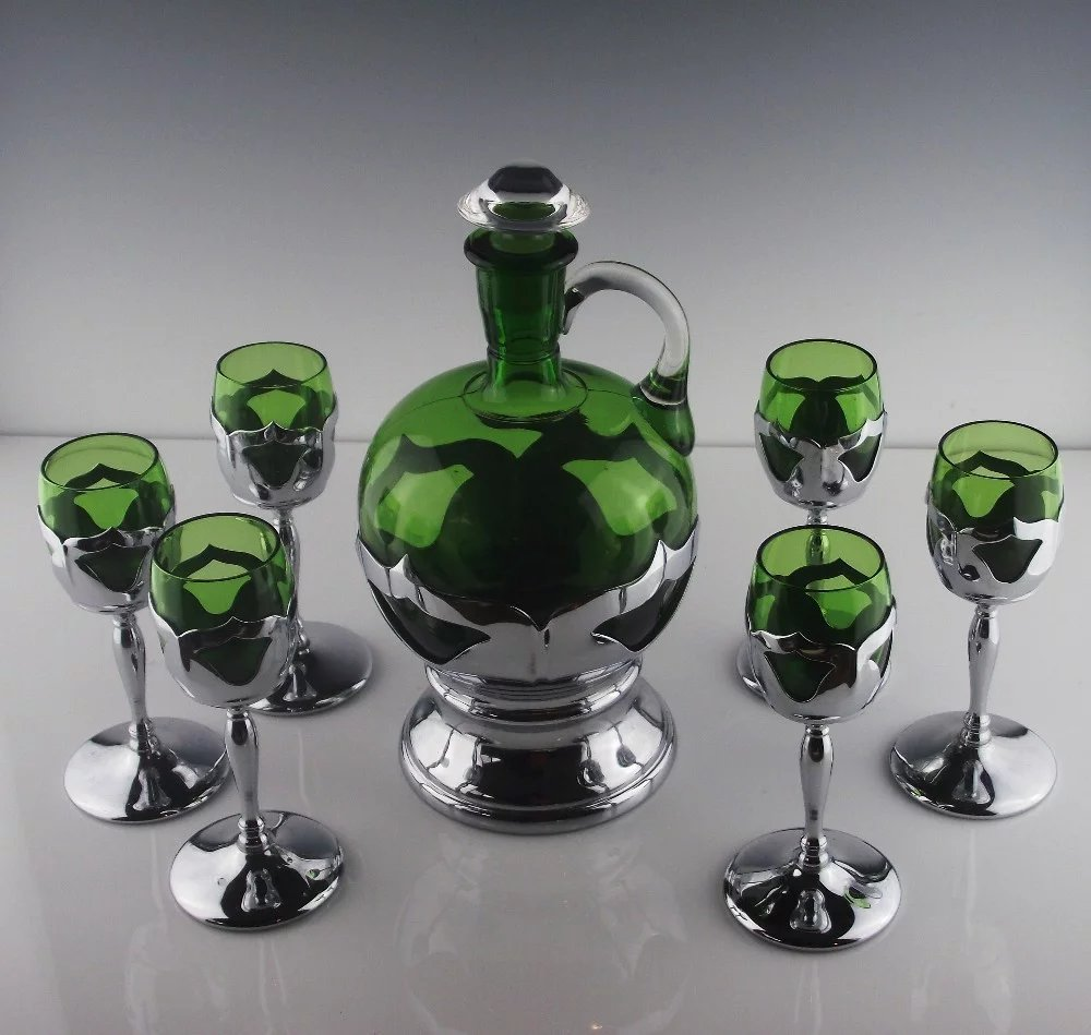Cambridge Farber Brothers Decanter And Cordial Shot Glass