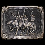 Award Design: Coming Through The Rye Belt Buckle ca 1980's