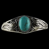 Navajo Cripple Creek Turquoise and Sterling Bracelet