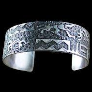 Navajo Bracelet Done In Hopi Style by Raymond Begay