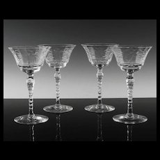 Elegant Floral Liquor Cocktail Wine Glasses