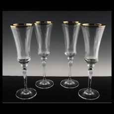 Mikasa Crystal Champagne Flutes in Jamestown Pattern