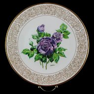 """Clearance: Boehm Porcelain Collector's Plate """"Angle Face"""" ca 1982"""