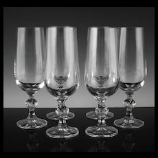 Boehmian Fluted Champagne Glasses