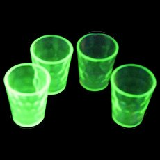 Uranium Shot Glasses by Federal Glass